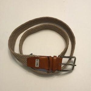 Nike Golf G Flex Brown / Tan Woven Belt Size 38